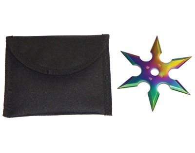 """Titanium Nitrate Coated 4"""" Throwing Star"""