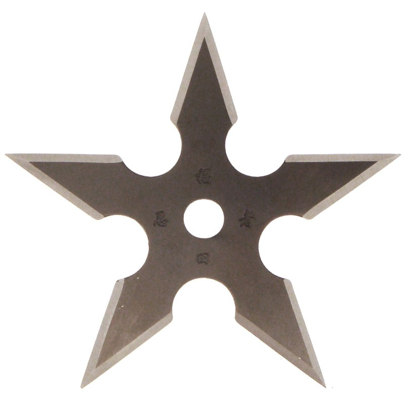 5 Point Throwing Star Black