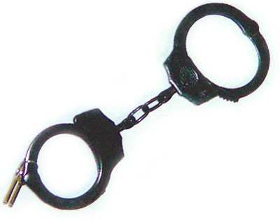 Black Double Locking Handcuff