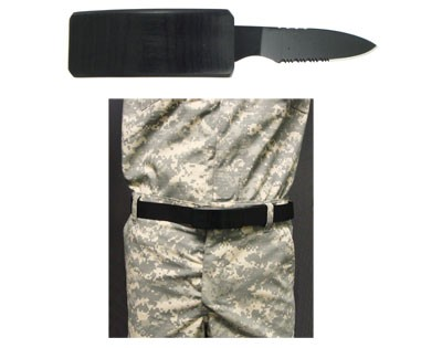 Belt Buckle with Fixed Blade Knife
