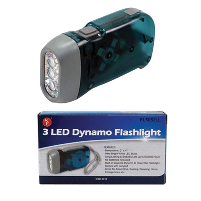 3 LED Dynamo Flashlight