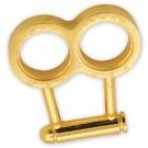 .44 Mag Bullet Gold Brass Knuckles