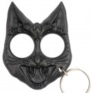 Black Evil Cat Keychain