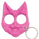 Pink Evil Cat Keychain