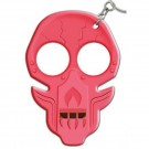 Defense Keychain w/ Seatbelt Cutter, Knife Sharpener, and Security Whistle - Pink