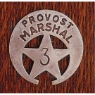 Provost Marshal: (Cut Out Star In Circle)