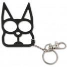 Solid Steel Cat Defense Keychain - Black