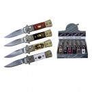 24 Pack Stiletto Automatic Knives - Assorted Colors