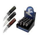 24 Pack Wood Handle Automatic Knives - Assorted Colors