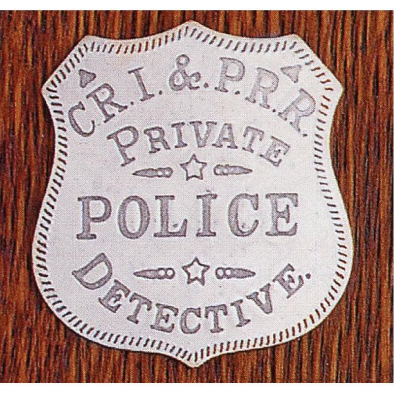 C.R.I & P.R.R. Private Police Detective: (Shield)