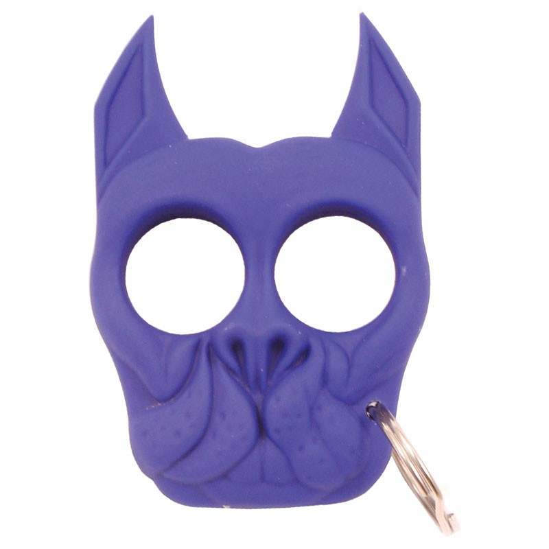 Brutus Bull Dog Self Defense Keychain Blue