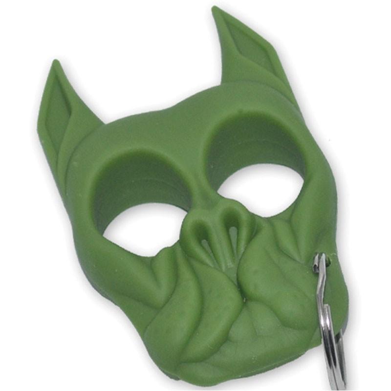 Brutus Bull Dog Self Defense Keychain Green