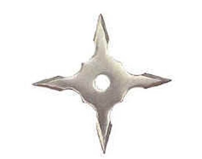 Silver 4 Point Throwing Star