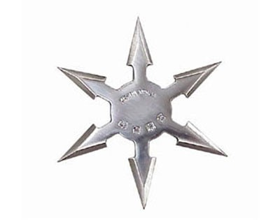 """6 Point 4"""" Throwing Star - Silver"""
