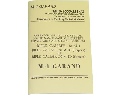 M-1 Garand - Dept. of the Army Technical Manual