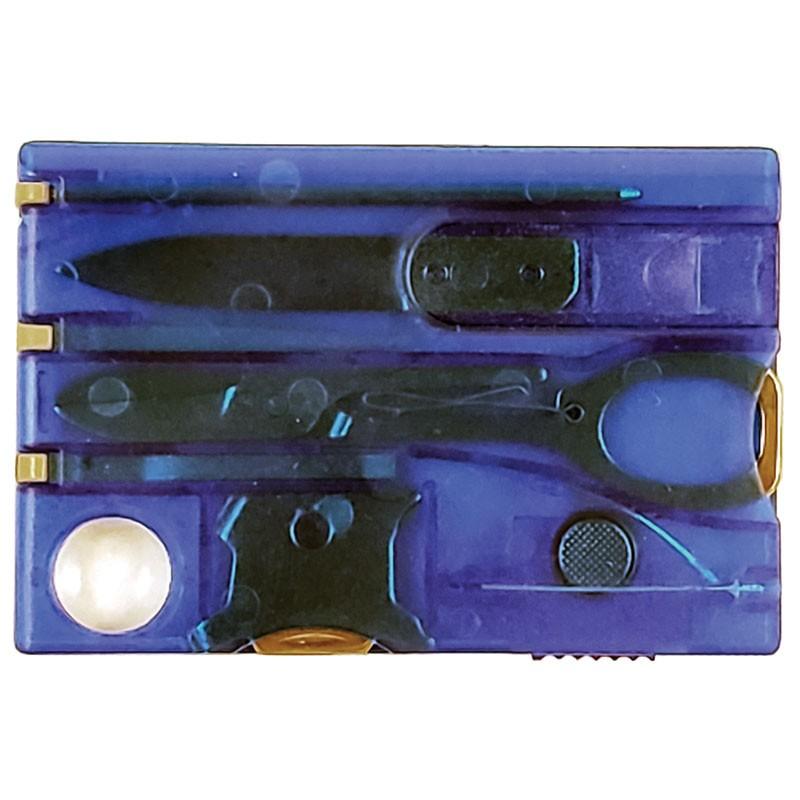 Swiss Card Multi-Task Wallet Tool - Blue