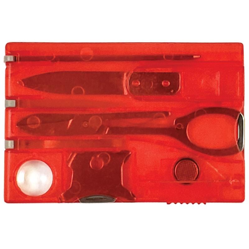 Swiss Card Multi-Task Wallet Tool - Red