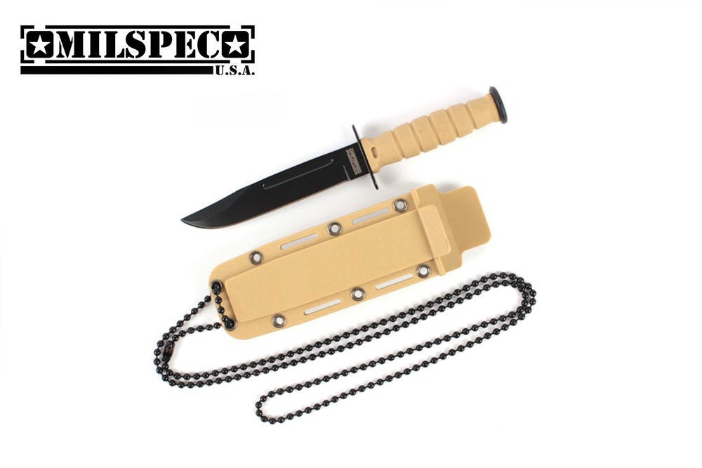 Tan Neck Knife