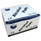 Alcohol Pads - Saturated with 75% Ethanol Alcohol - 100 Pads