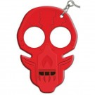 Defense Keychain w/ Seatbelt Cutter, Knife Sharpener, and Security Whistle - Red