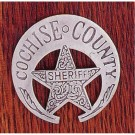 Sheriff Cochise County: (Scrolled Cut Out Star In Crescent)
