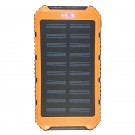 Solar Charging Backup Battery with LED Lantern - Orange
