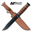 """12"""" Hunting Knife with Leather Sheath"""