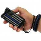Police Force 9,100,000 Blue Line Stun Gun with Paracord Bracelet