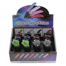 12 Pack Automatic Knives - Comes in 6 Assorted Colors