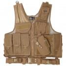 XXL Deluxe Quick Draw Tactical Vest - Coyote