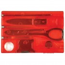 Swiss Card Multi-Task Wallet Tool - Red