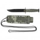 Digital Camo Neck Knife